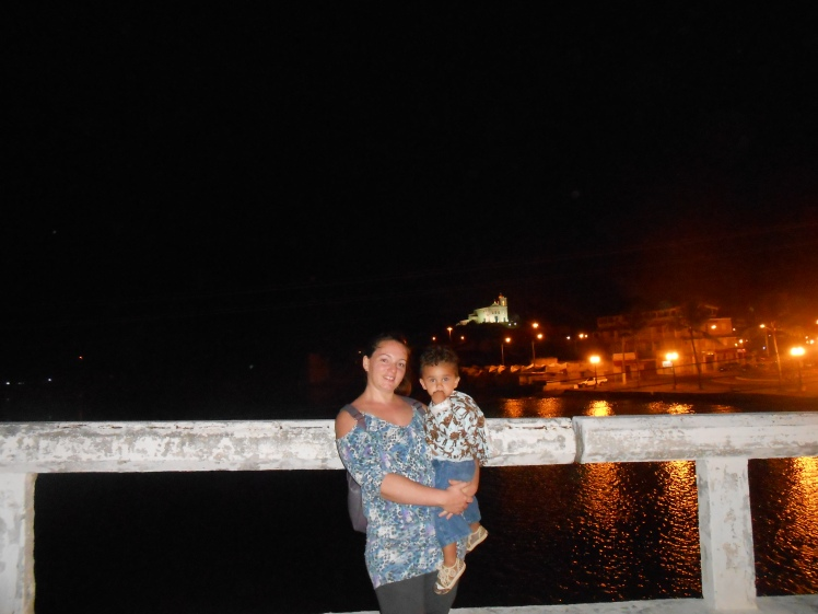 mom and akylis at night in saquarema 2