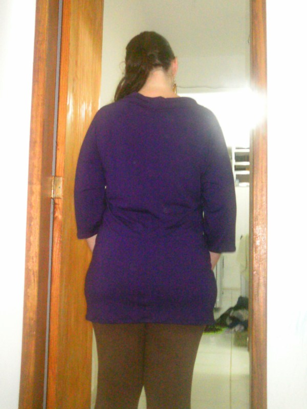 purple tunic back